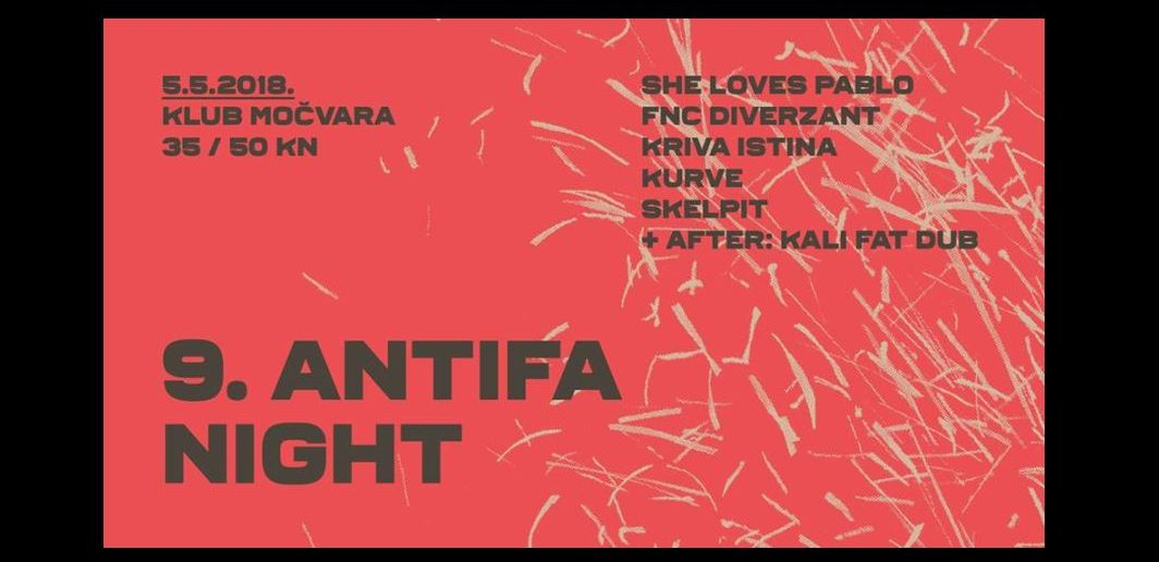 Antifa Night u Močvari